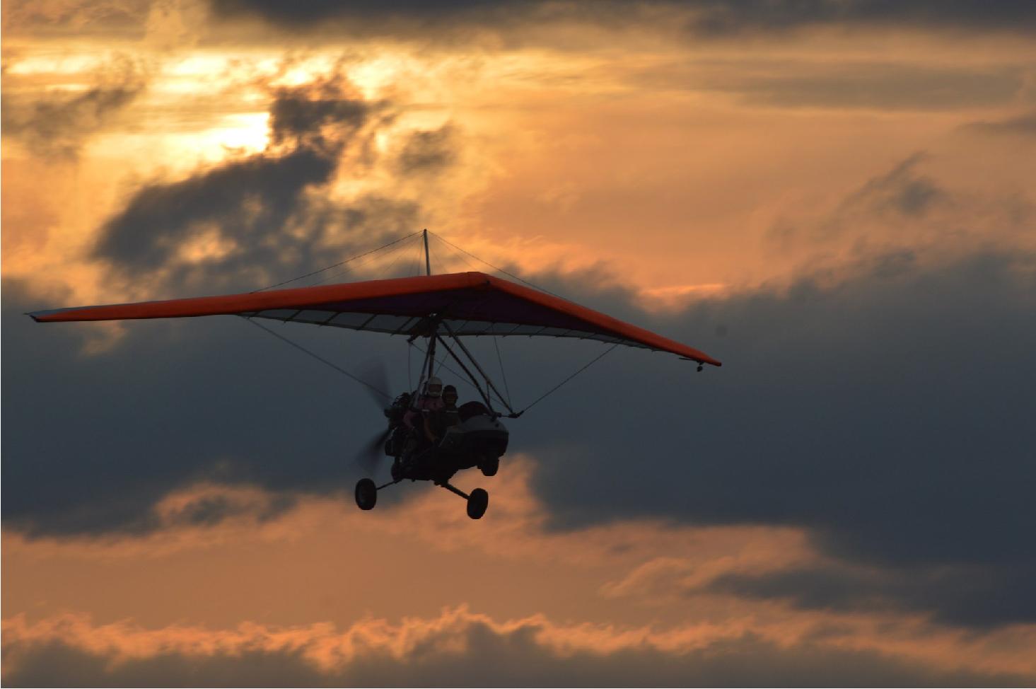Полет на мотодельтаплане над Коломыей