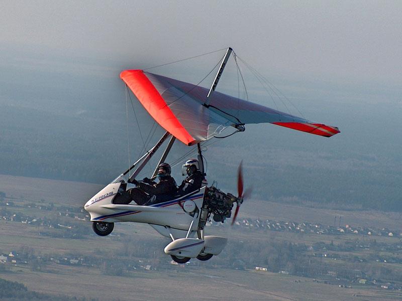 Полёт на мотодельтаплане над Днестровским Каньоном