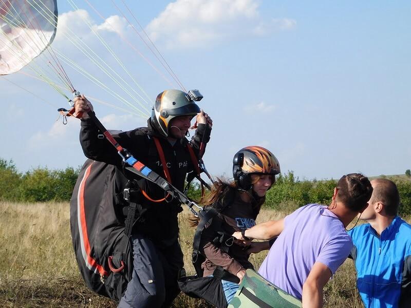 Політ на параплані у Івано-Франківську