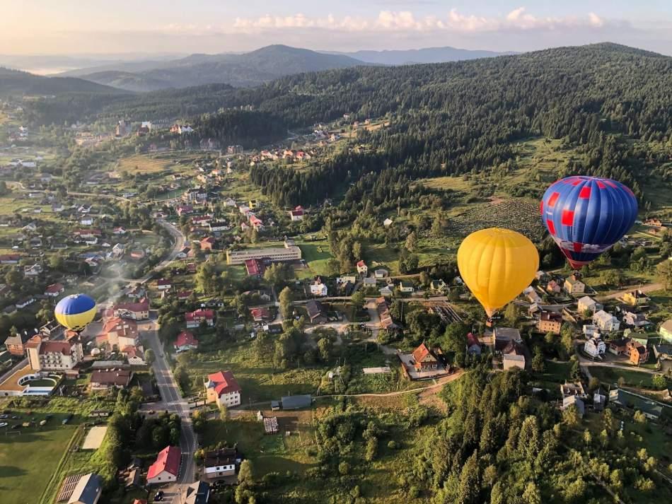 Політ на повітряній кулі в Славському