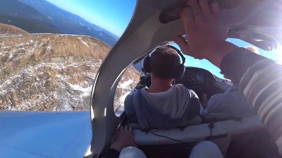 Політ для трьох на літаку над Говерлою