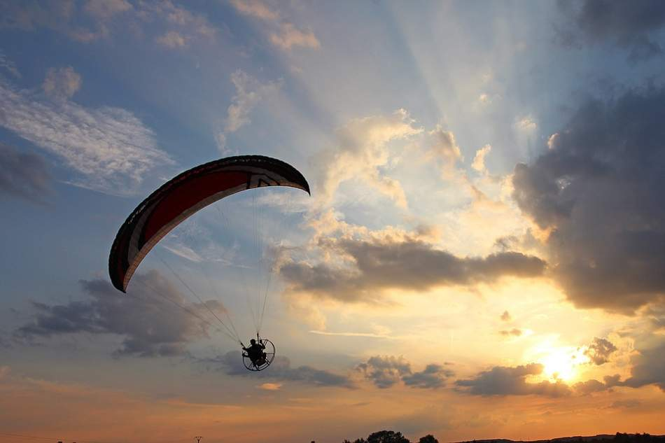 Політ на аерошуті в Тернополі