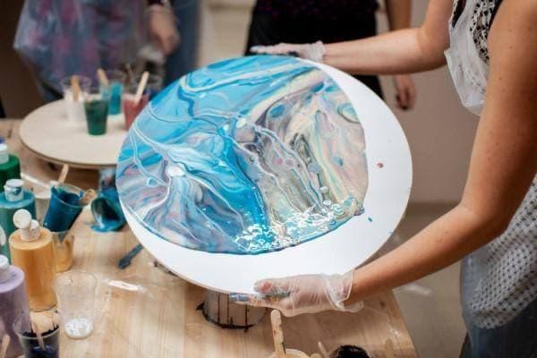 Мастер-класс живописи в технике Fluid Art
