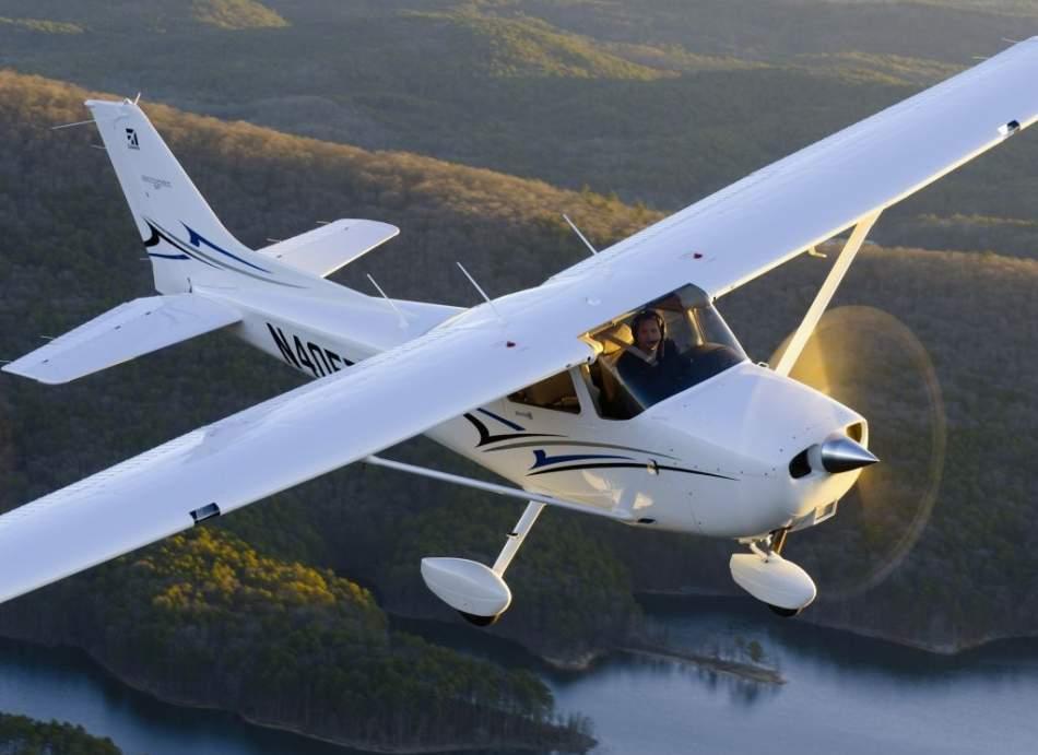 Полет над Ивано-Франковском на самолете Cessna 172