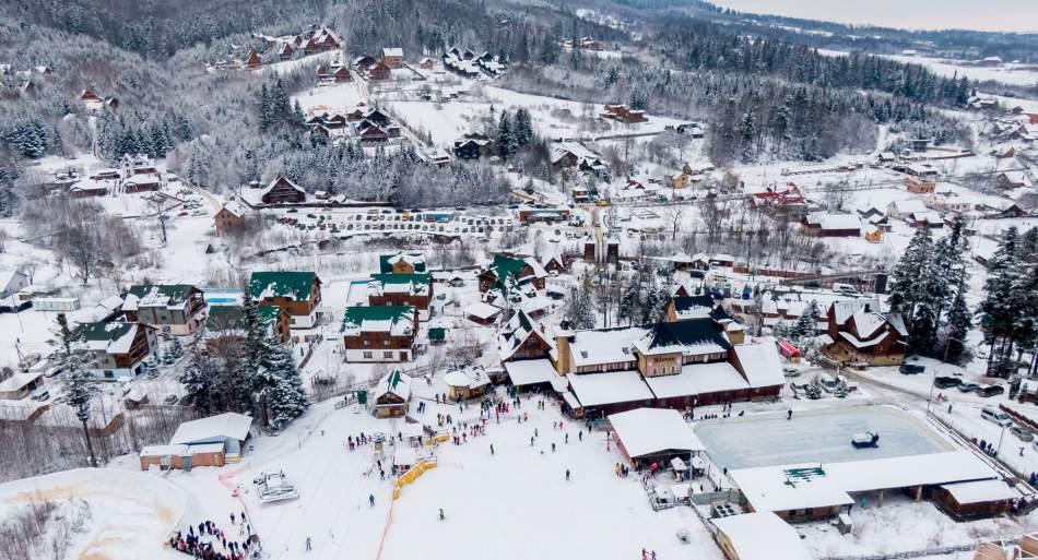Катання на лижах в Карпатах Мигово