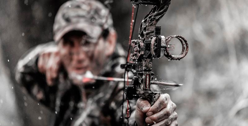 Стрельба из охотничьего блочного лука