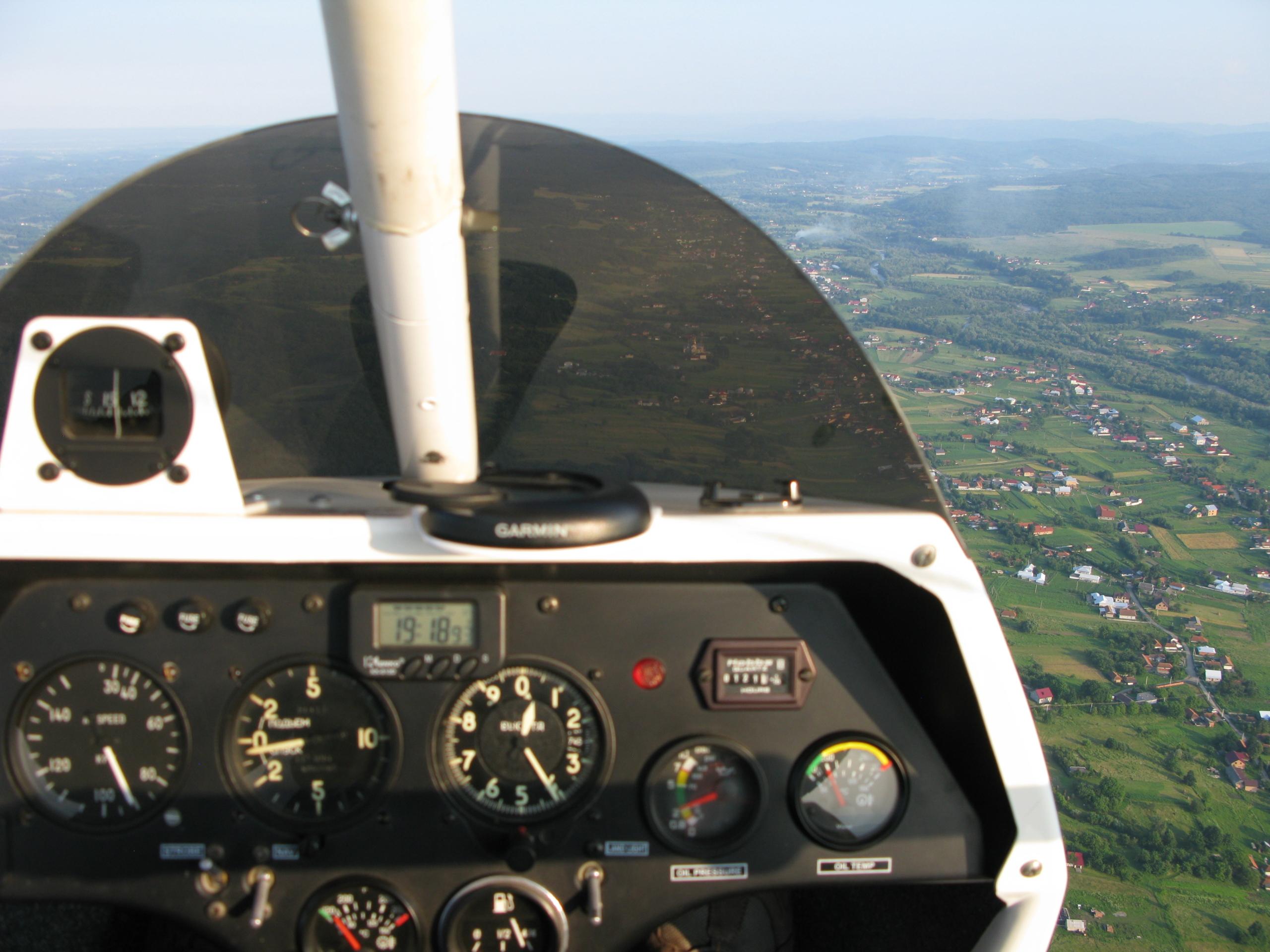 Полет на мотодельтаплане над Карпатами