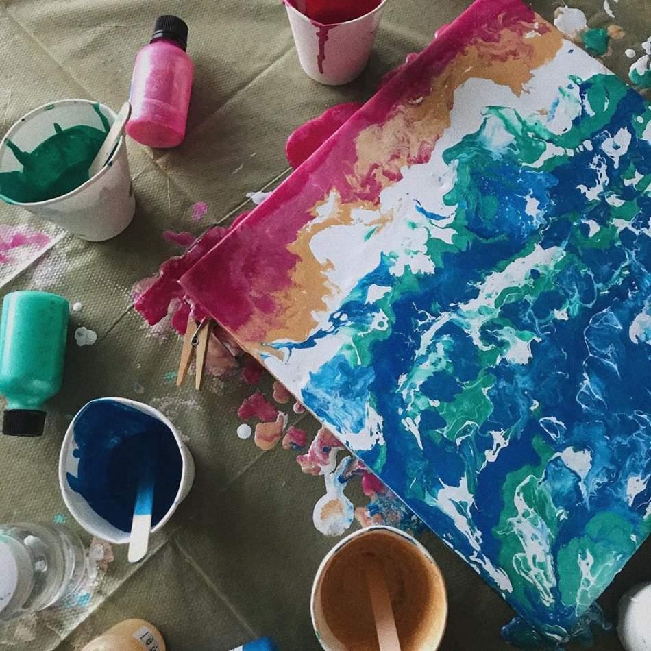 Майстер-клас живопису Fluid Art