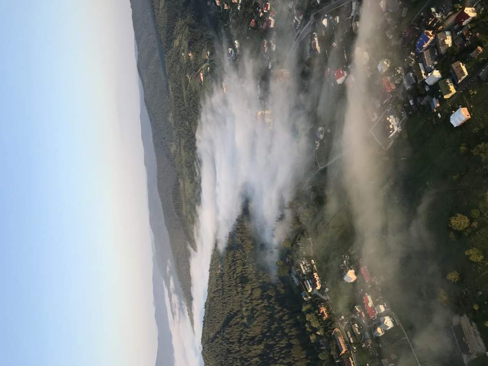 Політ на повітряній кулі над Буковелем