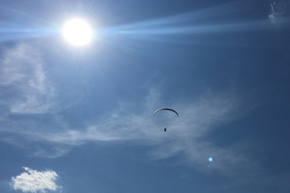 Політ на параплані в Тернополі