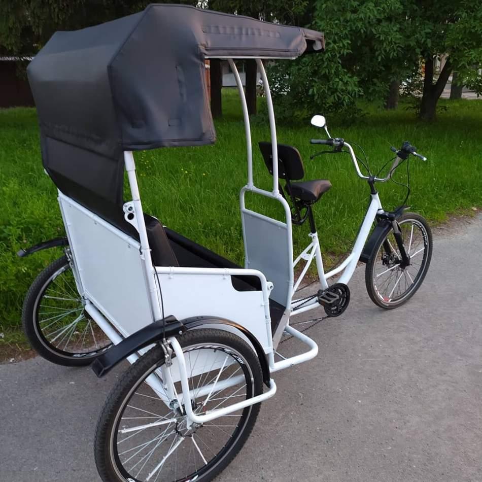 Катание на рикше в Тернополе