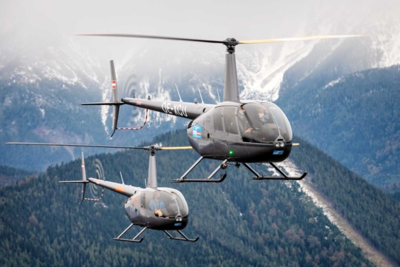 Обзорный полет над Карпатами на вертолете Robinson R44