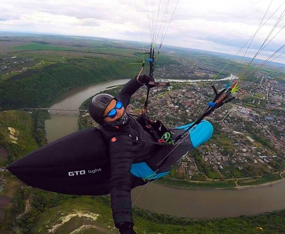 Полет на параплане в Черновцах